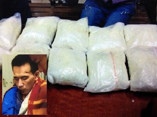 Đối tượng Ngô xuân Dũng bị bắt cùng 10kg ma túy của mình