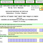 Mẫu đơn xin được miễn thuế thu nhập cá nhân