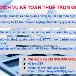 Dịch vụ kế toán thuế trọn gói chỉ 900.000 VNĐ