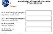 Hướng dẫn kê khai hồ sơ đăng ký mã số mã vạch