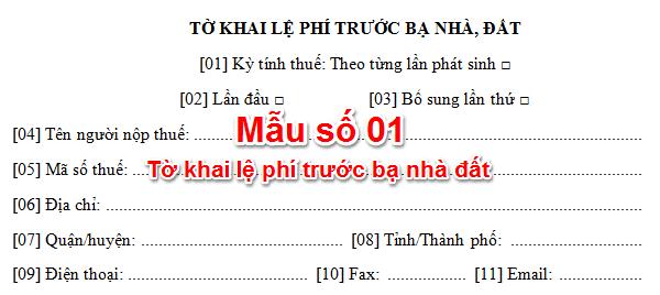 Huong Dan Khai Le Phi Truoc Ba Khi Chuyen Nhuong Nha Dat
