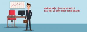 Luu Y Mot So Thu Tuc Sau Khi Thanh Lap Doanh Nghiep
