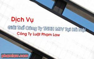 Giải Thể Công Ty TNHH MTV Tại Hà Nội